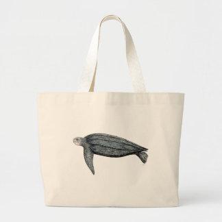 Turtle lute large tote bag