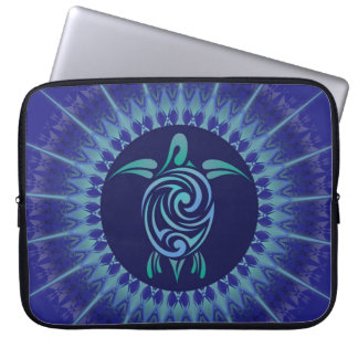 Turtle Mandala Dark Blue Computer Sleeves