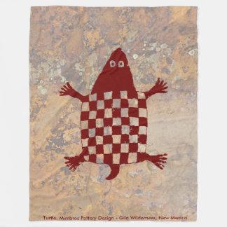 Turtle, Mimbres Pottery Design Fleece Blanket