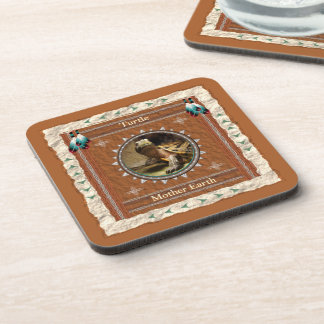 Turtle  -Mother Earth- Cork Coaster Set of 6