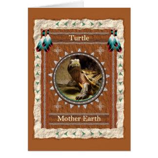 Turtle  -Mother Earth- Custom Greeting Card