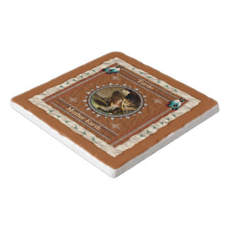 Turtle  -Mother Earth- Marble Stone Trivet