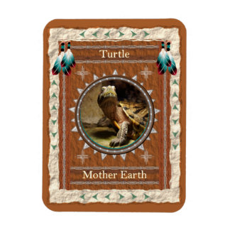 Turtle  -Mother Earth- Vinyl Flexi Magnet