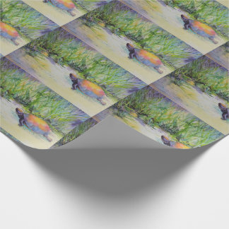 Turtle on the Beach Wrapping Paper