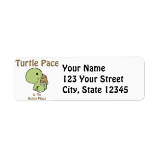Turtle Pace - Happy Place Return Address Label