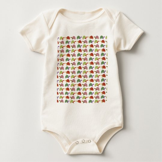 Turtle pattern baby bodysuit