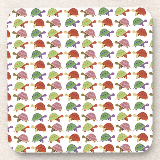 Turtle pattern drink coasters