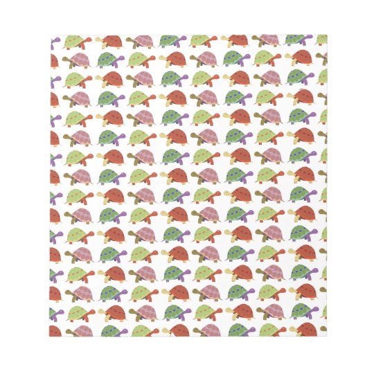 Turtle pattern notepad