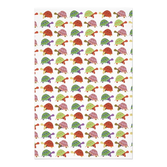 Turtle pattern stationery