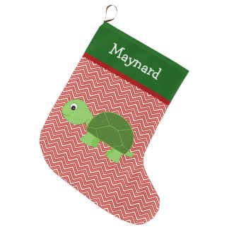 Turtle Pet Personalized Large Christmas Stocking