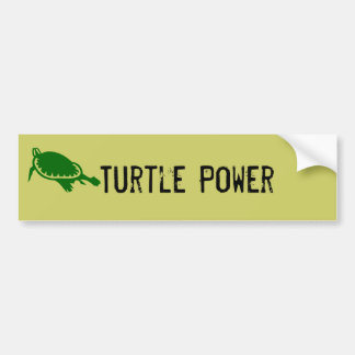 Turtle Power Bumper Sticker
