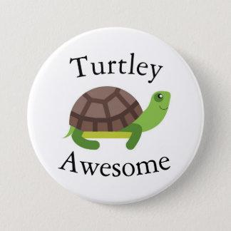 Turtle Pun Badge 3 Inch Round Button