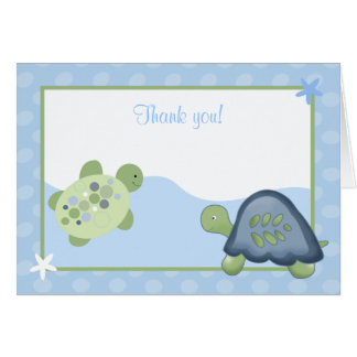 Turtle Reef (Light Blue) Folded Thank you Card