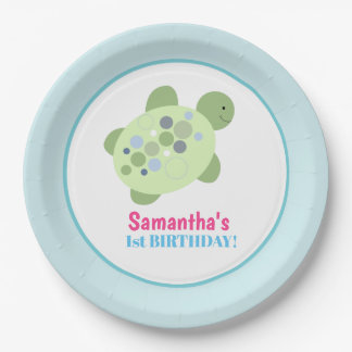 Turtle Reef Sea Turtle Birthday Paper Plate