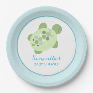 Turtle Reef Sea Turtle Custom Paper Plate 9 Inch Paper Plate