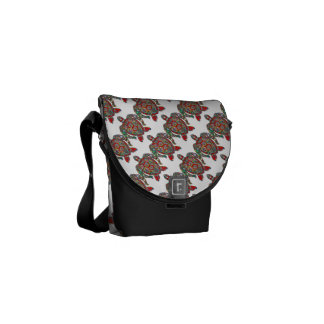 Turtle Reptile Animal Pattern Destiny Destiny's Messenger Bag