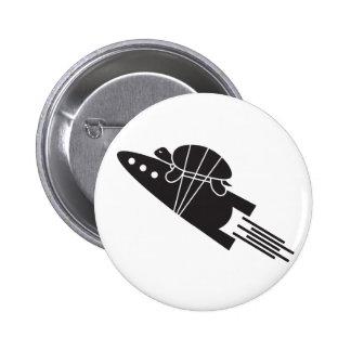 turtle riding a rocket  🐢  🚀 2 inch round button