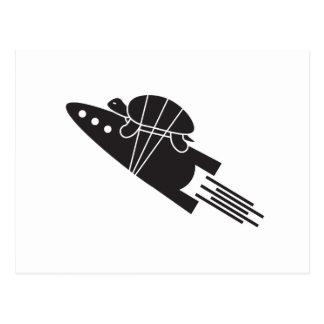 turtle riding a rocket  🐢  🚀 postcard