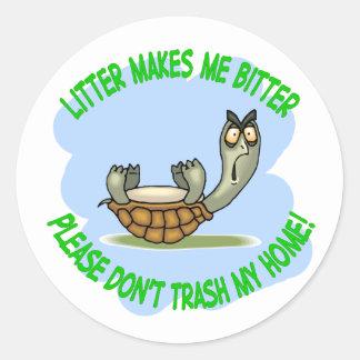 turtle round sticker