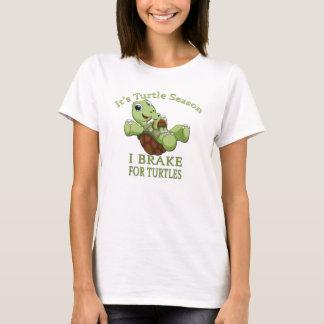 Turtle Season I Brake for Turtles T-Shirt