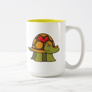 Turtle Shell Heart Two-Tone Coffee Mug