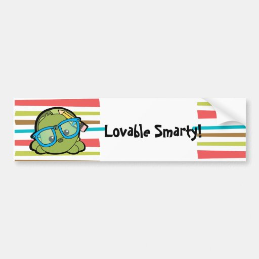 Turtle Smarty Bumper Stickers