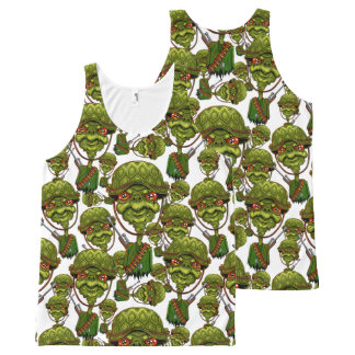 turtle soldier - funny army character All-Over-Print tank top