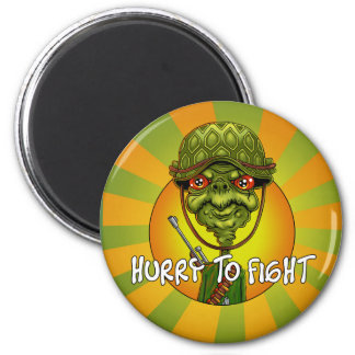 turtle soldier - funny army character magnet