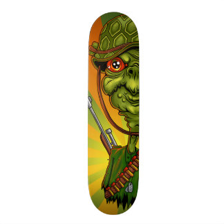 turtle soldier - funny army character skate decks
