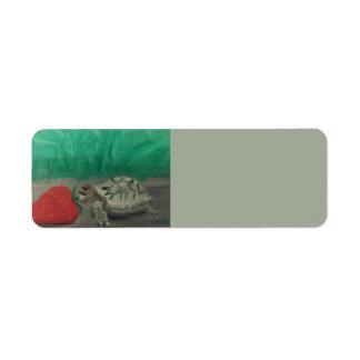 Turtle & Strawberry Address Labels