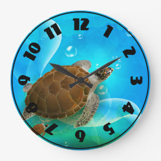 Turtle Swimming Clock