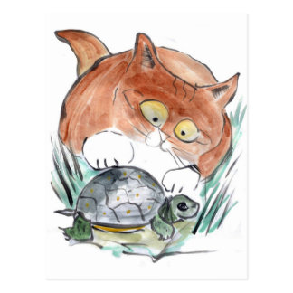 Turtle Tag - Kitten says You're it! Postcard