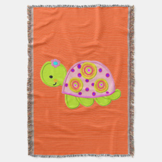 turtle template design throw blanket