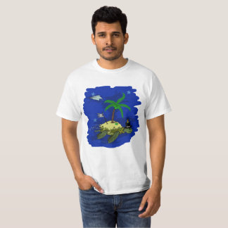 Turtle that sails in the sky T-Shirt