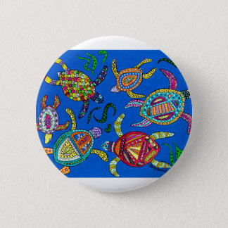 Turtle Time 2 Inch Round Button