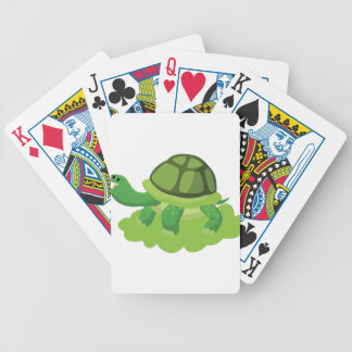 turtle walking in the grass bicycle playing cards