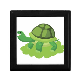 turtle walking in the grass gift box