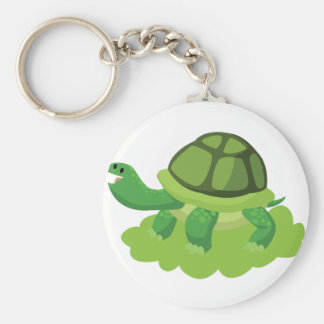 turtle walking in the grass keychain