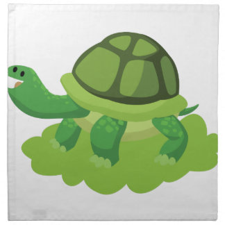 turtle walking in the grass napkin