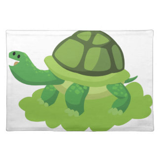turtle walking in the grass placemat
