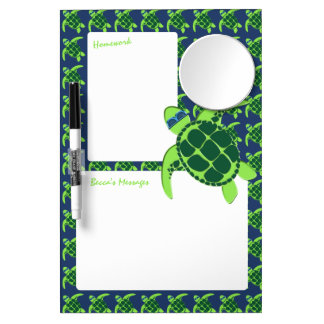Turtle with Sunglasses Dry Erase Whiteboards