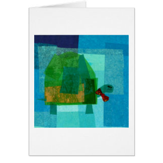 Turtle with Unibrow Card