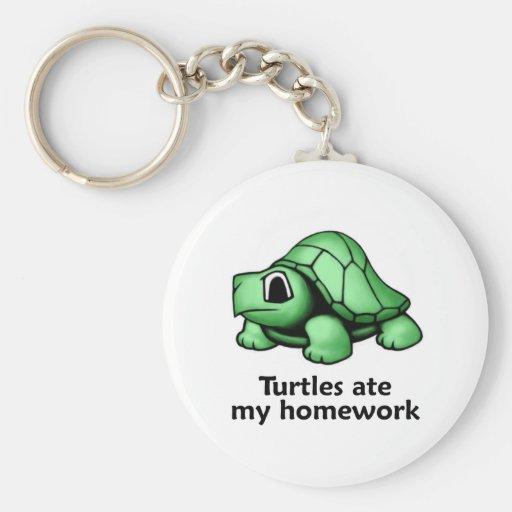 Turtles ate my Homework Keychain