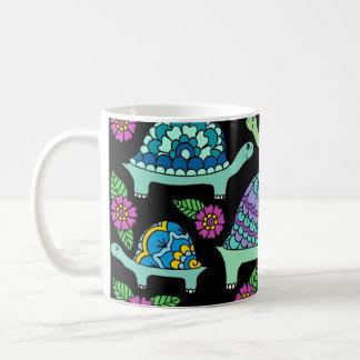 Turtles Black Coffee Mug
