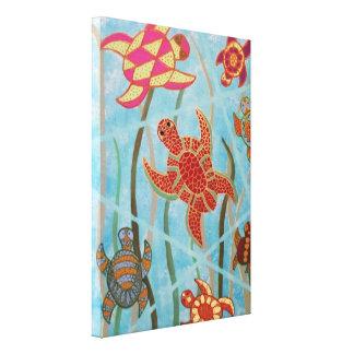 Turtles Galore Canvas Gallery Wrap Canvas