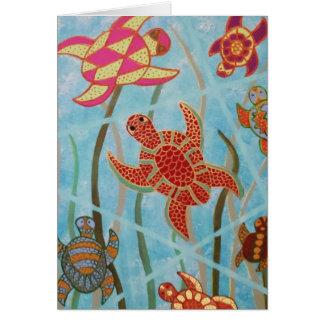 Turtles Galore Greeting Card