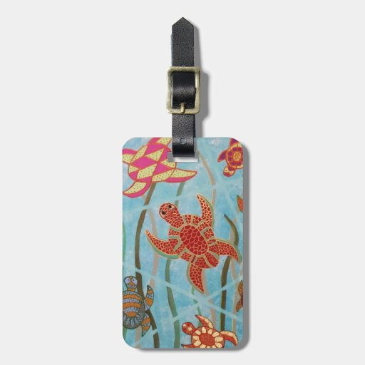 Turtles Galore Tags For Bags