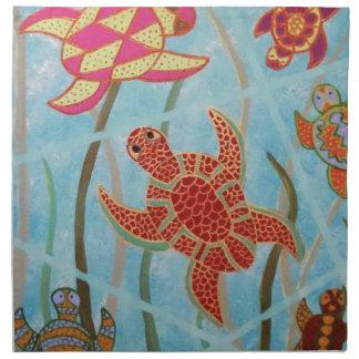 Turtles Galore Printed Napkins