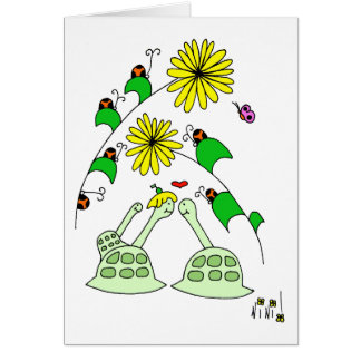 turtles & lady bugs card