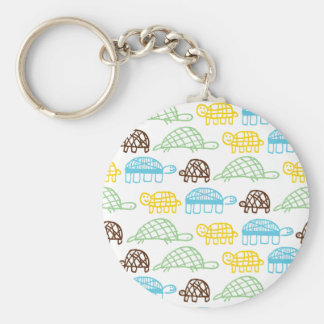 Turtles on Parade Keychain
